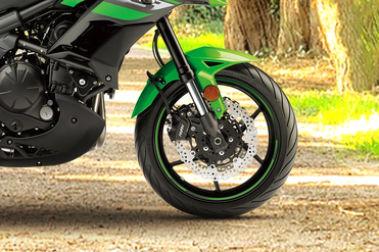 Kawasaki Versys 650 Front Tyre View