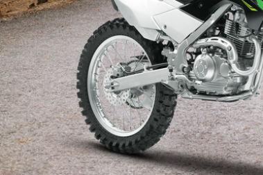 Kawasaki KLX 140 Rear Tyre View