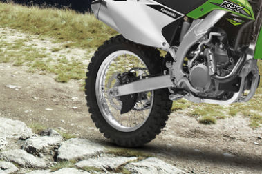 Kawasaki KLX 450R Rear Tyre View