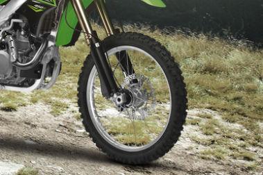 Kawasaki KLX 450R Front Tyre View