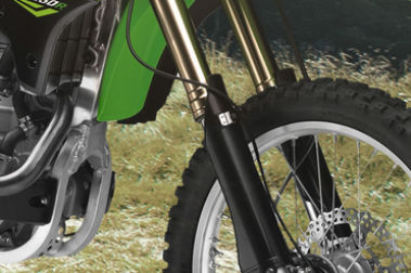 Kawasaki KLX 450R Front Suspension View