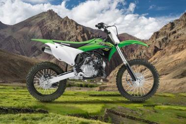 Kawasaki KX 100 Right Side View