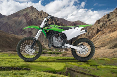 Kawasaki KX 100 Left Side View