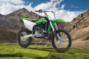 Kawasaki KX 100 Front Right View
