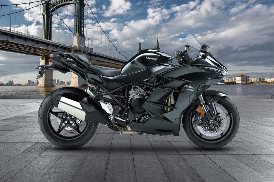 Kawasaki Ninja H2 SX Right Side View