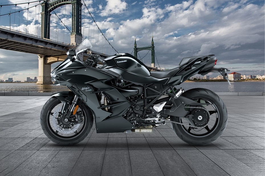 Kawasaki Ninja H2 SX Left Side View