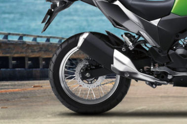 Kawasaki Versys X 300 Rear Tyre View