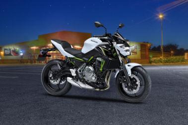 Kawasaki Z650 Front Right View