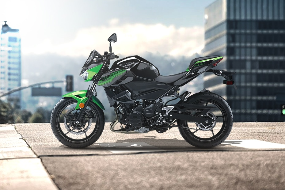 Kawasaki Z400 Left Side View