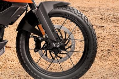 KTM 250 Adventure Front Tyre View