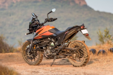 KTM 390 Adventure Rear Left View