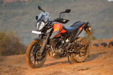 KTM 390 Adventure Front Left View