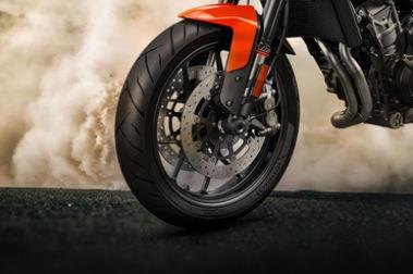 KTM 790 Duke Front Tyre View