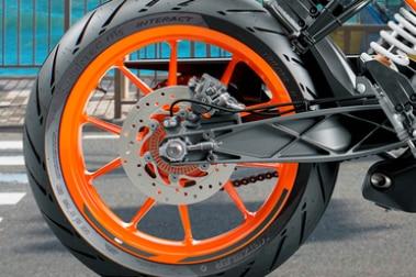 KTM 200 Duke Rear Tyre View