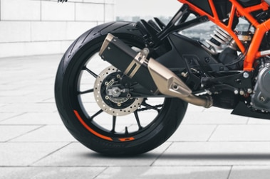 KTM RC 390 Rear Tyre View