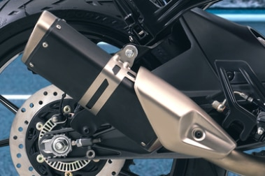 KTM RC 390 Exhaust View