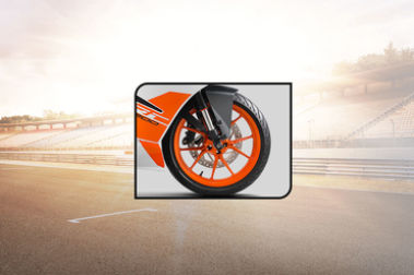KTM RC 200 Front Tyre View