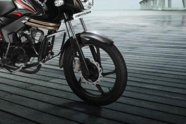 Mahindra Centuro Front Tyre View