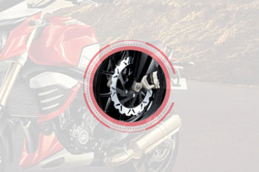 Mahindra MOJO XT 300 Front Brake View