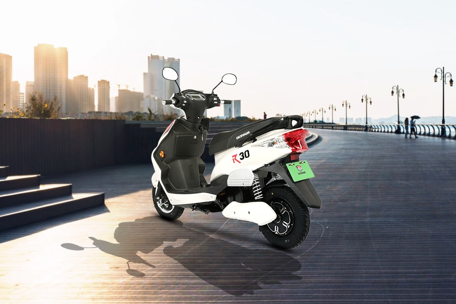 Okinawa R30 electric scooter Rear Left View