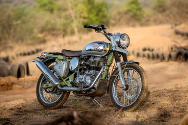 Royal Enfield Bullet Trials 500 Front Right View