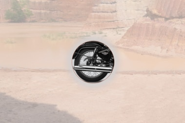 Royal Enfield Bullet 350 Rear Tyre View