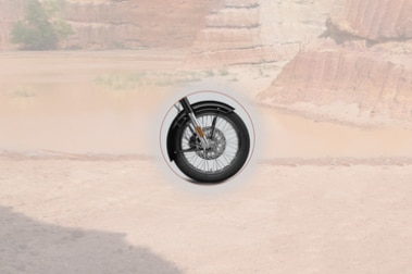 Royal Enfield Bullet 350 Front Tyre View