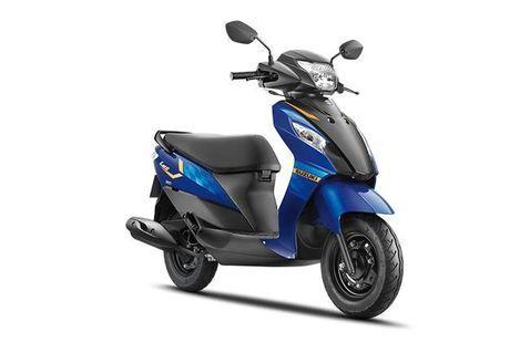 Suzuki Let's Royal Blue & Matte Black
