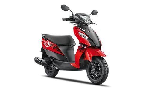 Suzuki Let's Orange & Matte Black