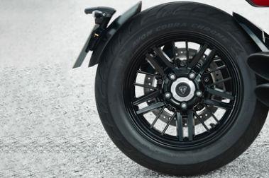Triumph Rocket 3 R Rear Tyre View