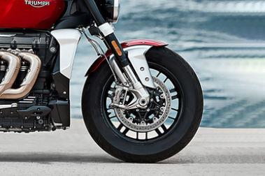 Triumph Rocket 3 R Front Tyre View
