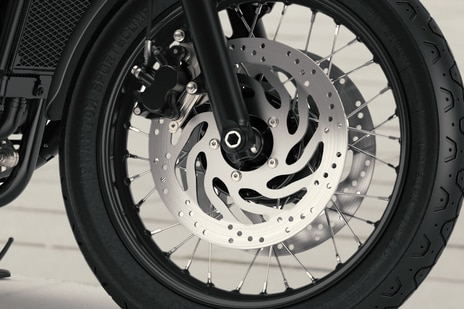 Triumph Bonneville T120 Front Brake View