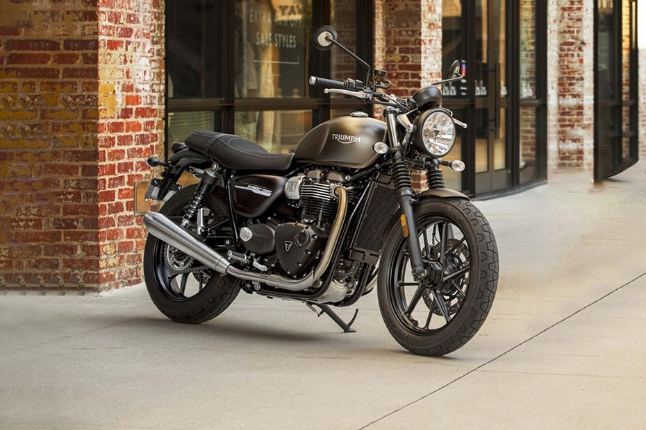 Triumph Street Twin Front Right View
