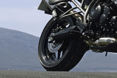 Triumph Tiger 800 Rear Tyre View