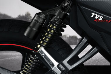 TVS Apache RTR 160 Rear Suspension View