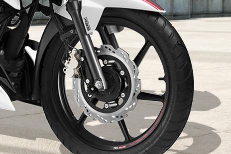 TVS Apache RTR 160 Front Brake View