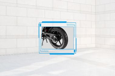 BS6 TVS Apache RTR 160 4V Rear Tyre View