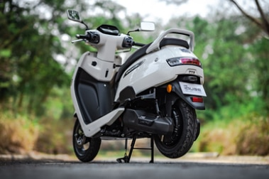 TVS iQube Electric Rear Left View