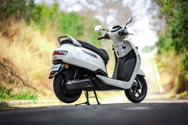 TVS iQube Electric Rear Right View