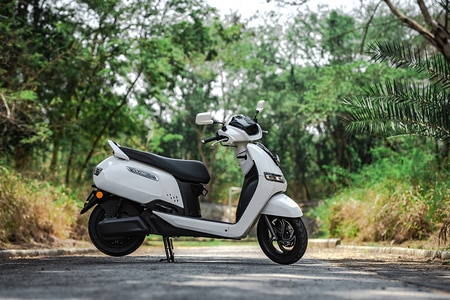 TVS iQube Electric Right Side View
