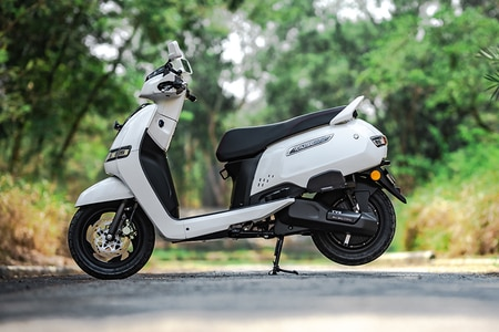 TVS iQube Electric Left Side View