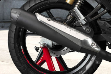 TVS Apache RTR 180 Exhaust View