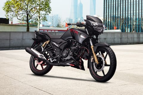 TVS Apache RTR 180 Front Right View