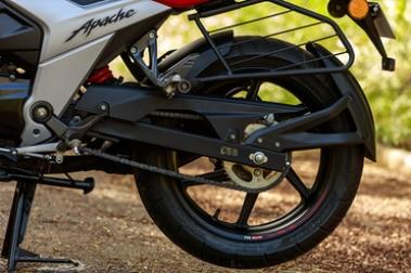 TVS Apache RTR 160 4V Rear Tyre View