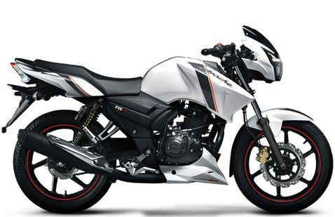 TVS Apache RTR 160 White