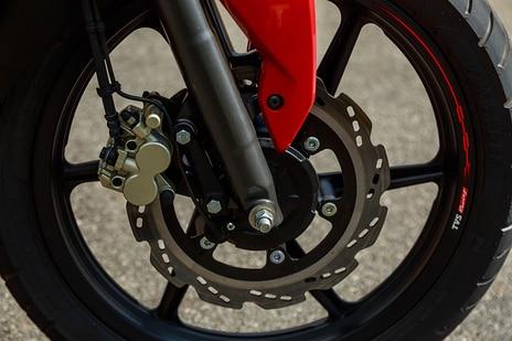TVS Apache RTR 160 4V Front Brake View