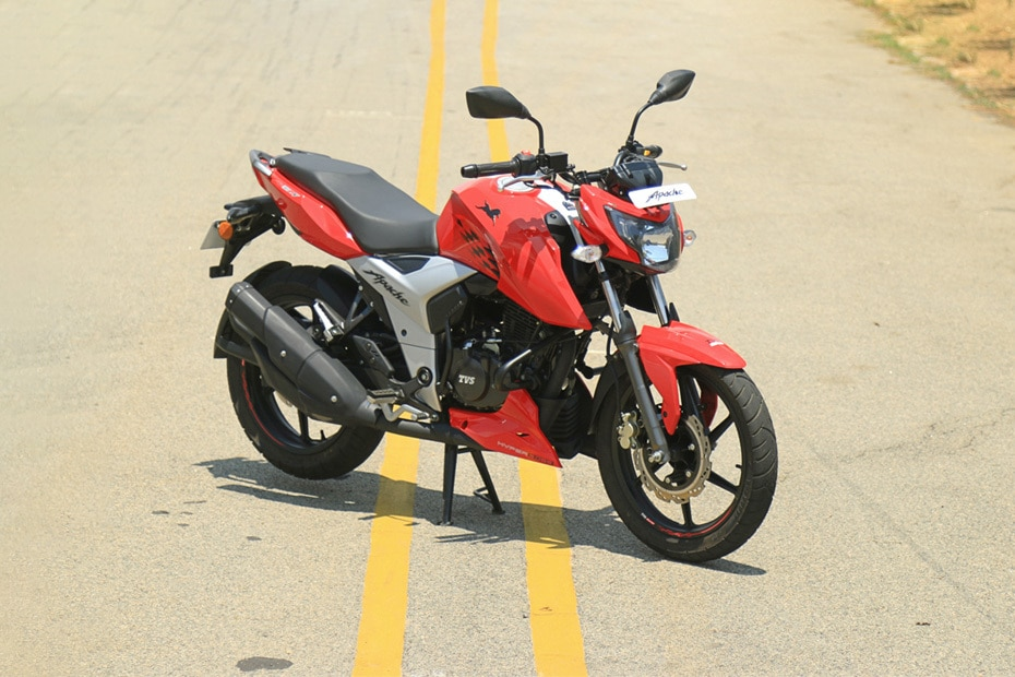 tvs apache rtr 160 4v price emi specs images mileage and colours