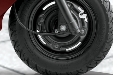 TVS Scooty Zest Front Tyre View