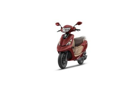 TVS Scooty Zest Matte Red