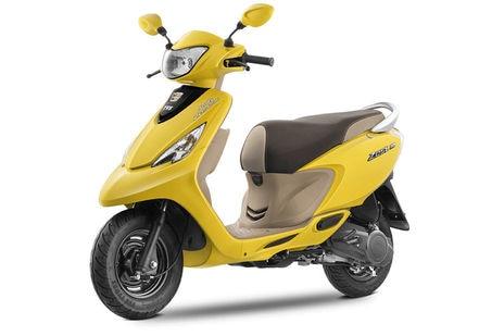 TVS Scooty Zest Matte Yellow